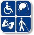 Image with Disability symbols